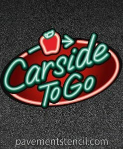 Applebee's Carside To Go stencil