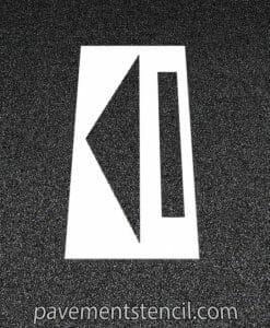 Wendy's straight arrow stencil