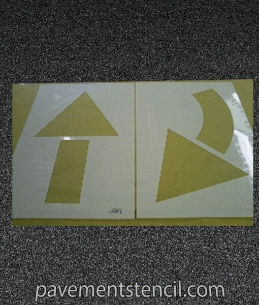 2 piece arrow stencil