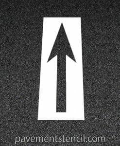 Bike lane arrow stencil