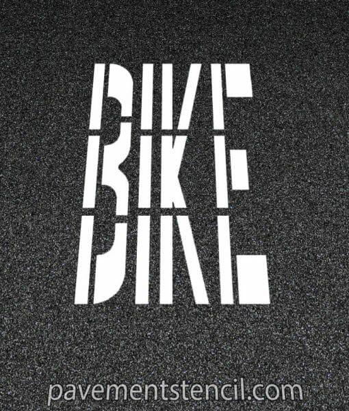 Bike word stencil