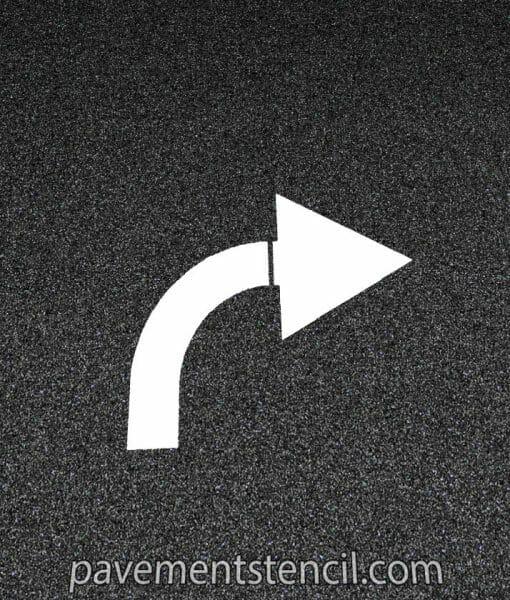 Chick-fil-a turn arrow stencil