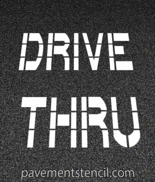 Chick-fil-a drive thru stencil