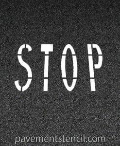 Chick-fil-a stop stencil