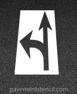 DOT combination arrow stencil
