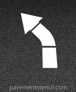 COSTCO turn arrow stencil