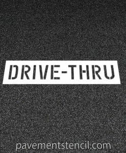 CVS Drive-thru stencil on pavement