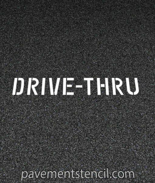 CVS Drive-thru stencil