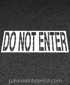 COSTCO Do Not Enter stencil