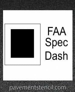 FAA Spec Dash stencil