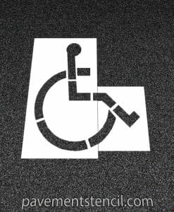 Walmart handicap parking stencil