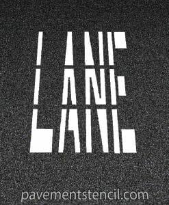 Lane word stencil