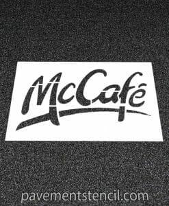 McDonald's McCafe stencil