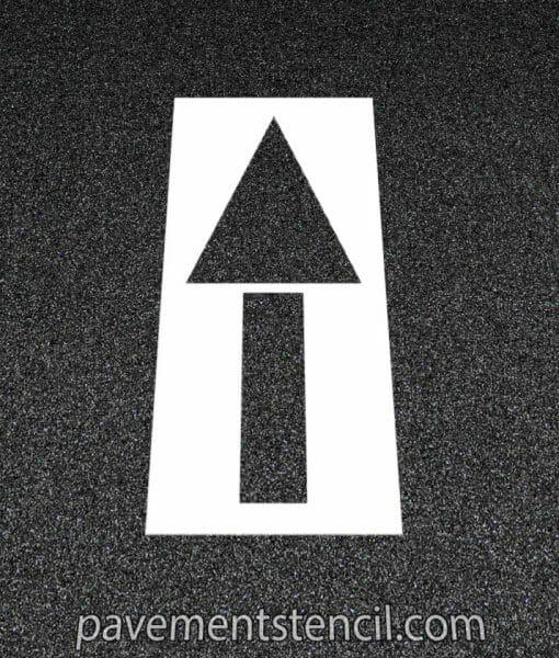 McDonald's straight arrow stencil