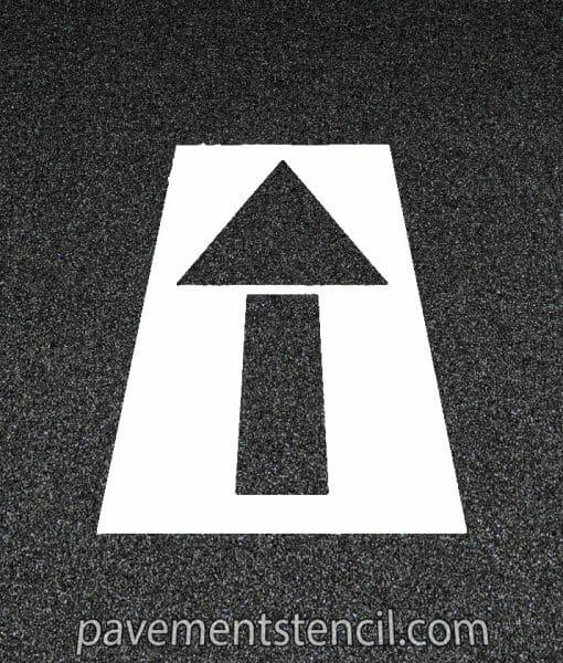 Straight arrow stencil