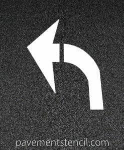 DOT turn arrow stencil
