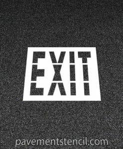 Walmart exit stencil