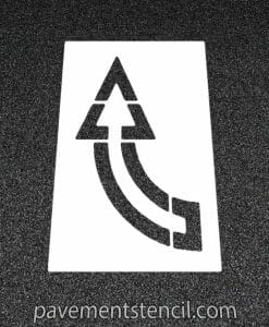 Walmart turn arrow stencil