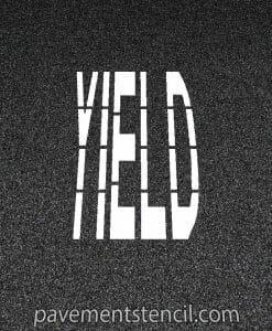 Walmart yield stencil
