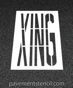 XING word stencil