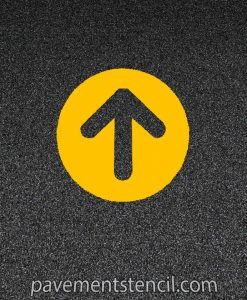 McDonald's circle arrow stencil