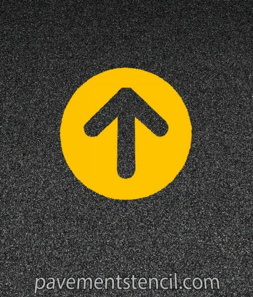 McDonald's circle arrow stencil