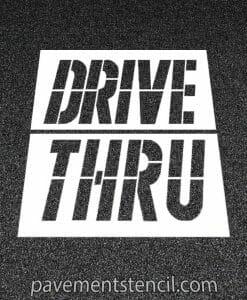 McDonald's drive thru stencil