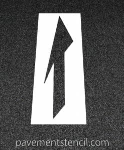 DOT Drop lane or Merge Arrow stencil