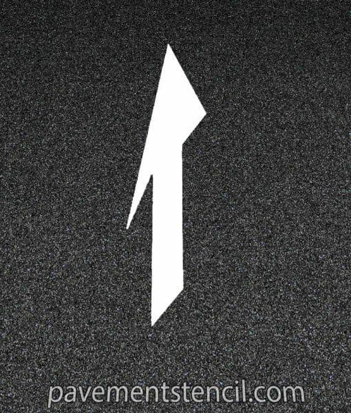 DOT Drop lane or Merge Arrow stencil