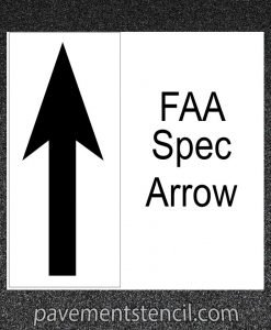 FAA Spec Arrow stencil