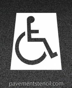 Florida handicap stencil