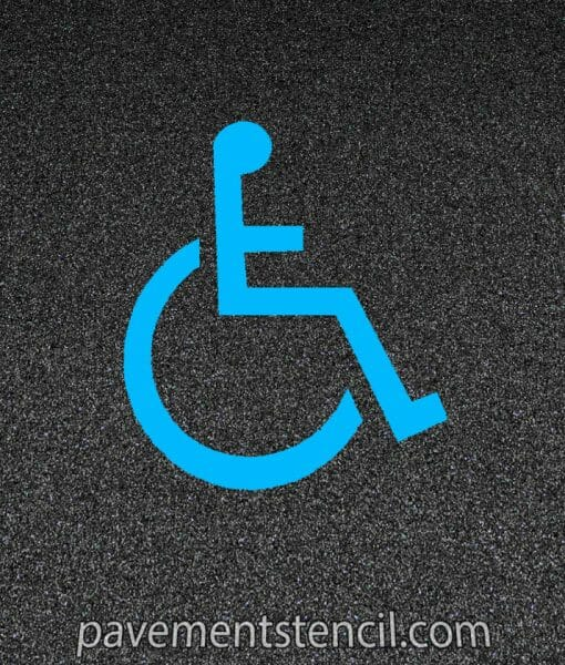 Florida handicap parking stencil