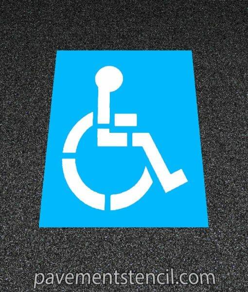 Handicap parking stencil