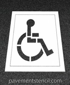 Handicap parking stencil with background