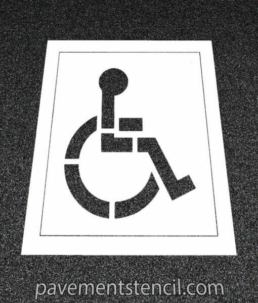 Handicap parking stencil with background