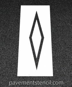 DOT preferential lane symbol stencil