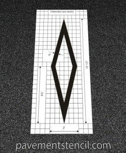 DOT preferential lane symbol stencil