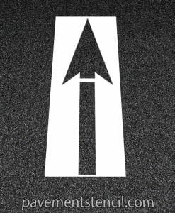 DOT straight arrow stencil