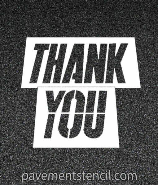 McDonald's thank you stencil