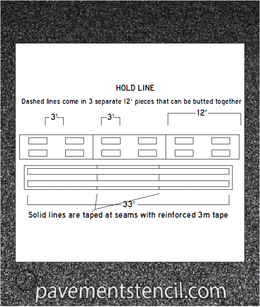 FAA hold line stencil diagram