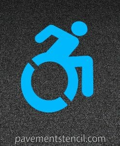 Active handicap parking stencil
