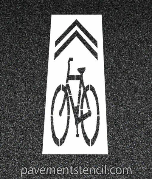 Bike lane sharrow stencil