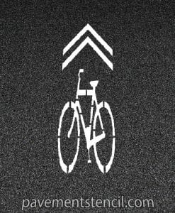 Bike lane sharrow stencil