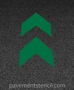 Starbucks chevron arrow stencil