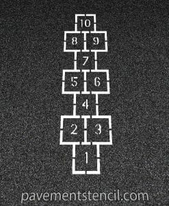 Traditional Hopscotch stencil