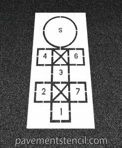Diagonal hopscotch stencil