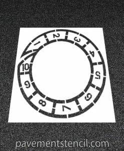 Spiral hopscotch stencil