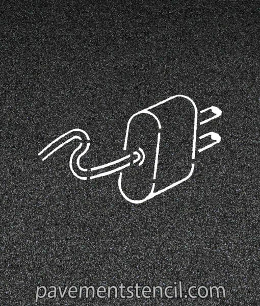 Electrical vehicle plug stencil
