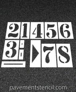 Running track marking stencils