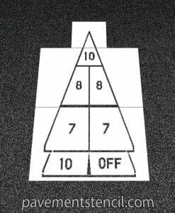 Shuffle Board marking stencil